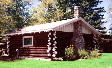 The Original Log Cabin at Leino's Hunting and Fishing Camp